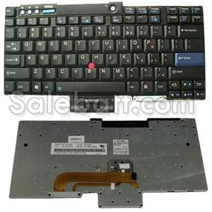 Black Lenovo Thinkpad T60 keyboard